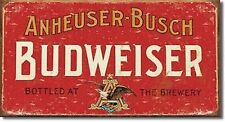 BUDWEISER Anheuser Busch FUNNY VINTAGE STYLE METAL SIGN PLAQUE beer pub wall art