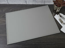 LARGE GREY Bonded Leather PLACEMAT