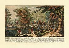 Johann Elias Ridinger Auf zur Jagd ... Faksimile von coloriertem Stich 11
