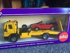 SIKU Ford cargo wrecker recovery truck made in Germany 2520 1:55 Scale Flat Bed