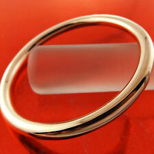 A799 GENUINE REAL 18K ROSE G/F GOLD LADIES HEAVY SOLID CUFF BANGLE BRACELET