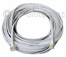 ADSL Cable 30m HIGH SPEED RJ11 Male to Male Telephone Extra Long 30 Metre White