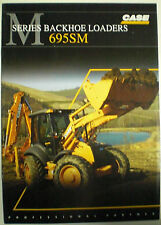 CASE BACKHOE LOADERS 695 SM  SALES BROCHURE PROSPEKT ENGLISCH