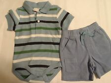 GYMBOREE 3-6 Month Underwater Adventure Shorts NWT Later Gator Bodysuit Outfit