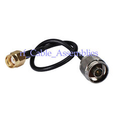 N-Type male plug to RP SMA male female pigtail coax cable RG174 15cm wireless