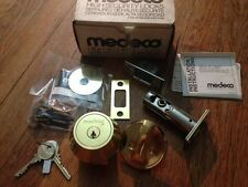 MEDECO  deadbolt single  maxum.,brass 23/8 or 23/4 if ask,commercial