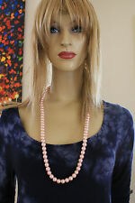 """NWT Exquisite Timeless Pastel Pink 30"""" Long Simulated Pearl Necklace"""