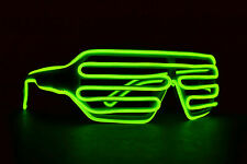 EL Wire glasses USA high quality 3-Mode battery glow raver costume light up led