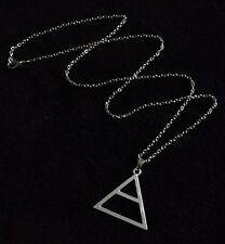 30 Seconds To Mars Triad Triangle Silver Necklace Echelon Pendant Jared Leto UK*