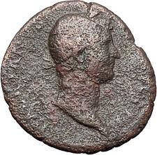 HADRIAN Bisexual Emperor BIG Ancient Roman Coin Salus Health Cult  i48049