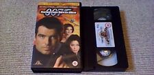 TOMORROW NEVER DIES MGM UK PAL VHS VIDEO 1999 Pierce Brosnan James Bond 007