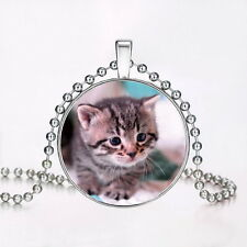 Fashion Punk Style kitten Glow in the Dark Stainless Steel Necklace Pendant