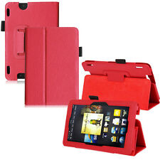 Leather Wallet Folio Stand Cover Case For Amazon Kindle Fire HDX 7inch 2012 2015