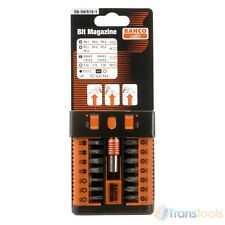 Bahco SB-59/S15-1 Pozi Phillips Slotted Torx Drill Driver Bit Set 15PC + Holder