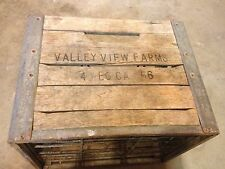 Vintage Wooden Crate Valley View Farms California 4/56
