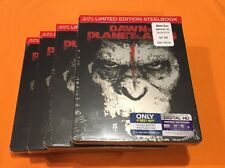 Dawn of the Planet of the Apes(Blu-ray-2016, Includes Digital Copy SteelBook-NEW