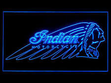 J722B Indian Motorcycle For Garage Display Décor Light Sign