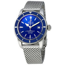 Breitling Superocean 42 Blue Dial Stainless Steel Mens Watch A1732116-C832SS