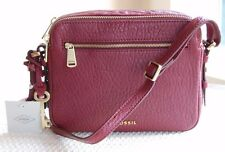 NWT Fossil Leather Piper Toaster Crossbody Wine ZB6868609