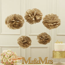 PASTEL PERFECTION - TISSUE PAPER POM POMS - GOLD