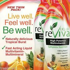 LIQUID reViva Multivitamin Twin Pack 2 X 32 Ounce Tropical Burst