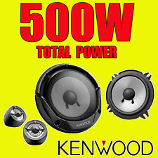 Kenwood 500w total 2way 5.25 Pulgadas 13cm coche Puerta 2way componente Parlantes Tweeters