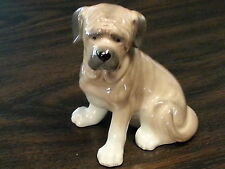 MASTIFF DOG Sitting Porcelain Ceramic Figurine Statute Quality New Collectible