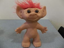 "uneeda troll wishnik doll 8"" red hair vintage horseshoe collectable wish nick"