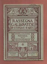Gallarate Varese+RASSEGNA GALLARATESE DI STORIA E D'ARTE.-a.II-n.4-DICEMBRE 1931