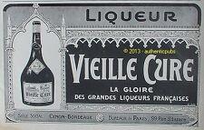 PUBLICITE VIEILLE CURE GLOIRE DES GRANDES LIQUEURS FRANCAISES DE 1927 FRENCH AD