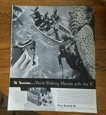 """1935 Cine-Kodak Vintage Magazine Ad """"You're making movies with the k"""""""