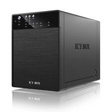 """! nuevo! IcyBox IB-3640SU3 Bahía externa de 4 sistema de JBOD para 3.5"""" SATA HDD USB 3.0"""