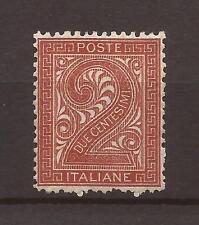 1863 V. E. II - DE LA RUE - c. 2 n° L15 MLH* PERFETTO CENTRATO € 8.500 GARANTITO