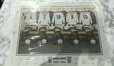 England Football Squad signed photo 2003 - 2004 Put your own name on Shirt no 19