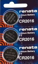 3 pcs 2016 Renata Lithium Watch Batteries FREE SHIP