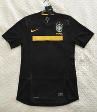 Nike Brasil Brazil CBF 2011-12 Black Authentic Match Soccer Jersey Player Issue