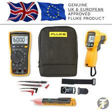Fluke 117 True RMS Multimeter + 62 MAX Plus + TPAK3 + 1AC +C115 Case (FLU-K-CS7)