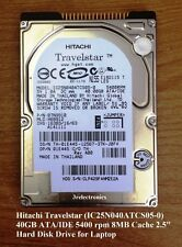 "Hitachi Travelstar 40GB ATA/IDE 5400 rpm 8MB Cache 2.5"" Int Notebook Hard Disk"