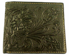 Black Tooled Montana West Western Men's Leather Wallet