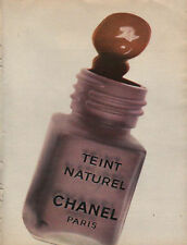 Publicité Advertising  CHANEL teint naturel