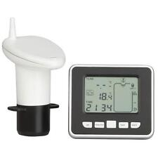 Wireless Ultrasonic Water Tank Level Meter Sensor w/Thermometer Transmitter 100M