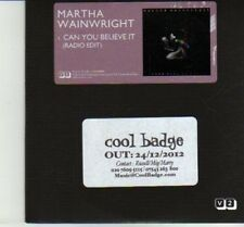 (DJ149) Martha Wainwright, Can You Believe It - 2012 DJ CD