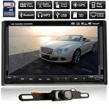 """New 7"""" HD LCD Double DIN Car GPS Stereo DVD Player Touch Screen Bluetooth+Camera"""