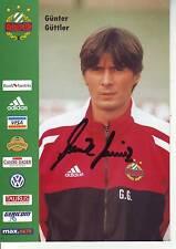 FOOTBALL carte trainer GUTTER GUTTLER  équipe SK RAPID WIEN signée