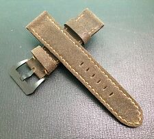 New Material! Nubuck Leather Strap for Panerai 24mm/22mm Watch - Best Quality!