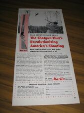 1954 Print Ad Marlin Model 90-ST Over Under Shotguns Bird Hunter Aims