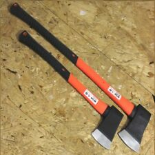 NEW 4lb & 2.5lb  Axe Steel Head Felling Chopper Axe Orange Fibreglass shaft