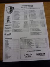 09/08/2015 Teamsheet: Coxyde v Lierse. Thanks for viewing our item, if this item