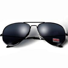Sonnenbrille Pilotenbrille schwarz Damen Herren Brille Verspiegelt Aviator Black