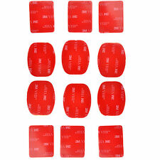 New 12pcs 3M VHB Adhesive Sticker Set for GoPro Helmet Mount HD Hero 2 3 3+ Stoc